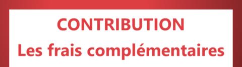 Contribution – Frais complémentaires