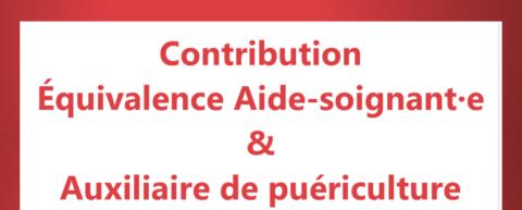 Contribution Équivalence Aide-soignant·e & Auxiliaire de puériculture