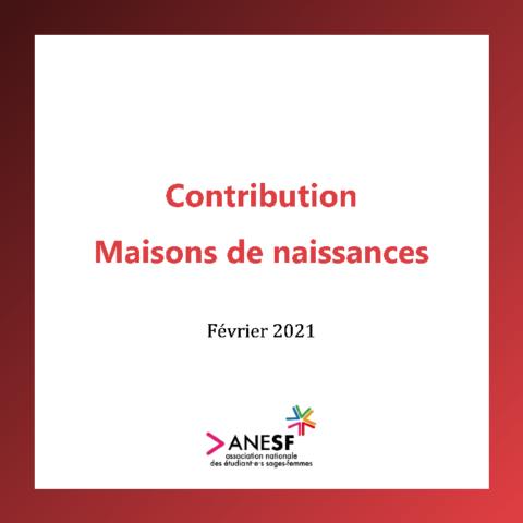 Contribution : Maisons de naissances