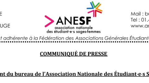 Communiqué de presse – Renouvellement du Bureau National de l'ANESF
