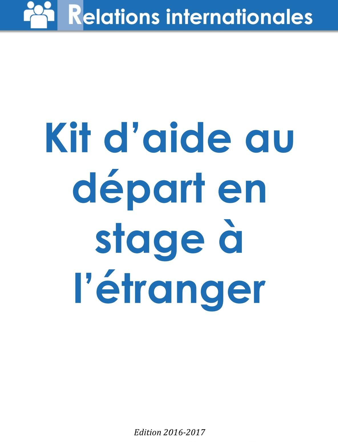 Kit d'aide au départ en stage à l'étranger image