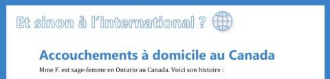 Accouchements à domicile au Canada